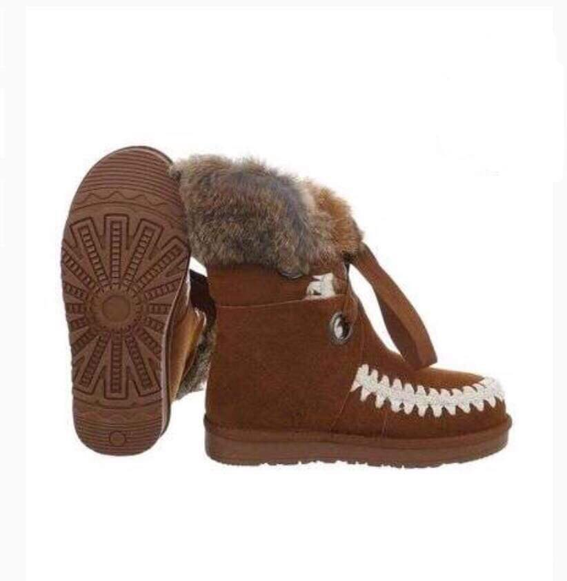 00908ca880f1 Camel ruskinds-støvle med pels – Netstyle