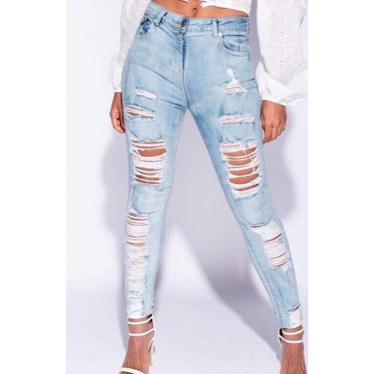 902631a1 Lyse jeans med slid – Netstyle